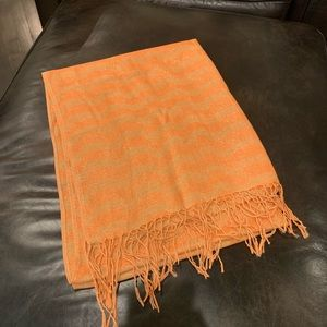 Accessories - Orange and Gold Shimmer Scarf
